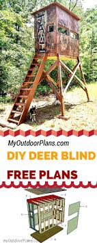 Free Deer Shooting Blind Plans For Your To Learn How To Build One How To Make Windows For A Deer Blind