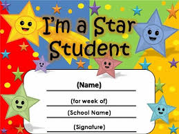 Star Student Certificates Free Star Awards Templates Certificates Star Student
