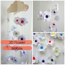Paper Flower Mobiles Little Treasures Easy As D I Y 3d Paper Flower Mobile