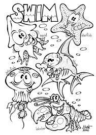 Sea Animals Coloring Page Animal Habitats Printables Sea Animals A