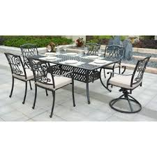 aluminum patio furniture. Perfect Aluminum Christena Cast Aluminum 7 Piece Dining Set With Cushions For Patio Furniture A