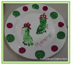 Reindeer Footprint Ornament  Messy Little MonsterChristmas Crafts With Babies