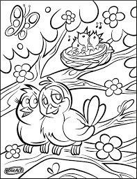Happy Spring Roseart Easter Printables Preschool Coloring