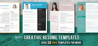 Free Cool Resume Templates Best Creative Resume Templates Get The Job You Deserve Freesumes