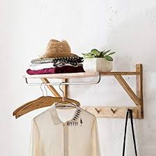 Wooden Coat Racks Wall Mounted Uk Adorable ZXYMJ Wall Mounted Clothes Rail Coat Rack Wall Hanging Wood Wall