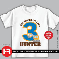 Construction Birthday Shirt Or Bodysuit For Any Age Personalized Excavator Birthday Shirt Digger Birthday Shirt