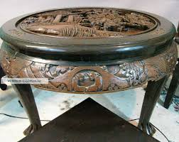 interesting carved wood round coffee table for your living room design charming hand carved wood