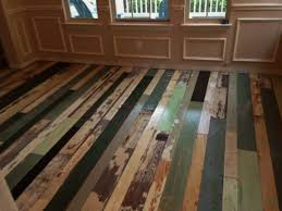 mix and match reclaimed wood flooring