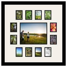 arttoframes collage photo frame with 13 openings and satin black frame contemporary picture frames by arttoframes