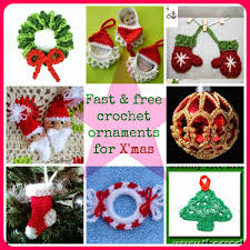Crochet Christmas Ornaments Patterns Extraordinary Fast And Free Crochet Ornament Patterns For Christmas