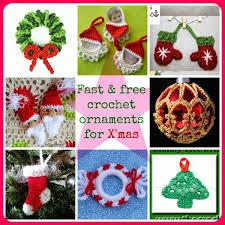Free Crochet Christmas Ornament Patterns Awesome Fast And Free Crochet Ornament Patterns For Christmas