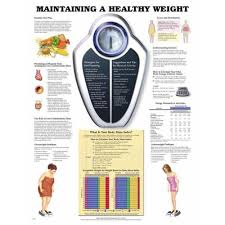 Health Weight Chart Maintaining A Healthy Weight Chart Poster Laminated