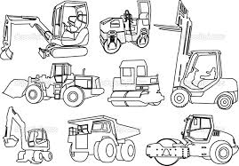 Small Picture For Kids Download Construction Equipment Coloring Pages 16 In Line