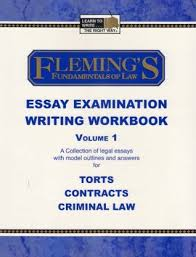 fleming s fundamentals of law essay examination writing workbook 6453857