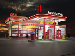 Image result for 50's gas station