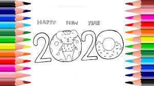 วาดรูป ระบายสี สวัสดีปีใหม่ 2020 |Coloring and Drawing Happy new year 2020  - YouTube