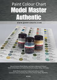 Pactra Paint Chart Paint Colour Chart Model Master Autentic 12mm
