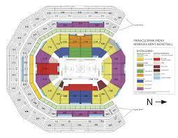 nebraska men s basketball seating chart