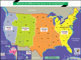 Time Map What Are The Different Time Zones In The United States