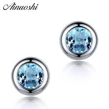 ainuoshi 10k solid yellow gold double halo earring 7 carat marquise cut drop luxurious women jewelry click back