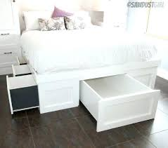 high platform beds with storage. White High Platform Beds With Storage