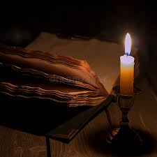 old book and candle stock image image of book ancient 99105237