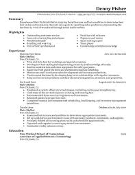Hair Stylist Resume Skills Best Of Resume Hairstylist Cover Letter