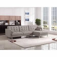 Modern sectional sofa Red Divani Casa Smith Modern Brown Fabric Sectional Sofa Inmod Modern Sectional Sofas