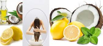 Resultado de imagem para natural straightening with coconut milk and lemon