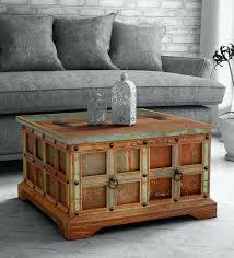 azealia solid wood trunk box in