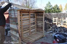 pallet shed. 15 wood pallet shed, outdoor living, shed 5