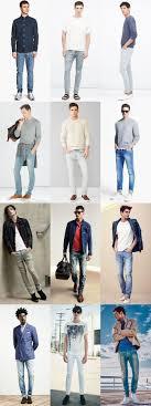 Light Wash Jeans Outfit Mens Light Wash Denim Jeans Outfit Inspiration Lookbook
