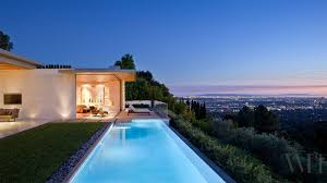 view modern house lights. Mid Century Modern House In California View Lights O