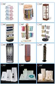 Jewelry Display Floor Stands Jewelry Store Equipment Custom Lockable 100way Rotating Wood 65