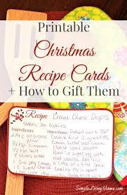 Printable Christmas Recipe Cards Christmas Recipe Cards Free Printable Simple Living Mama