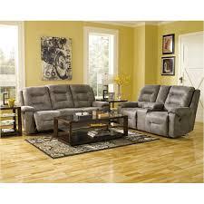 Ashley Furniture Rotation Smoke Reclining Sofa Smoke