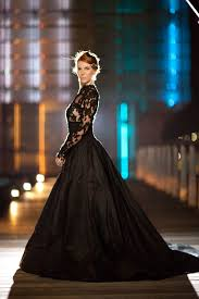 queen of the night elegant black wedding dresses with