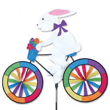 Small Picture Amazoncom Bike Spinner Easter Bunny Wind Spinners Patio