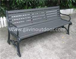 recycled plastic bench outdoor cast