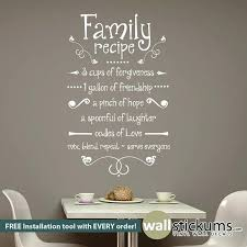 vinyl for kitchen walls wall art ideas design family recipe kitchen vinyl wall art decorations quotes on vinyl wall art ideas with vinyl for kitchen walls evropazamlade me