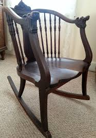 cool antique wooden rocking chair identification of ccecfdfdddc v