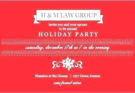 Corporate Holiday Party Invite Staff Christmas Party Invitations Party Invitation Letter