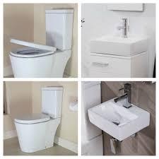 Bathroom Suites Ebay Details About Toilet Sink Cloakroom Bathroom Suite Square Ceramic