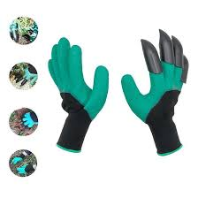 <b>Garden Gloves With</b> Fingertip Claws Quick Easy Dig Plant Safe for ...