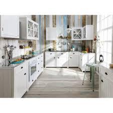 Meuble Bas De Cuisine Pour Four En Pin Blanc L70 Newport Maisons