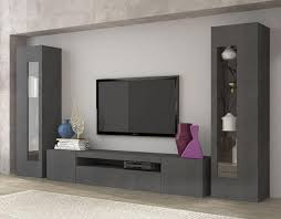 daiquiri modern tv cabinet and display units combination in anthracite gloss finish optional lights