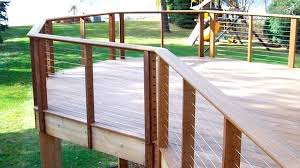 cable deck railing cable railing a story deck made of overlooks the water and a with cable deck railing