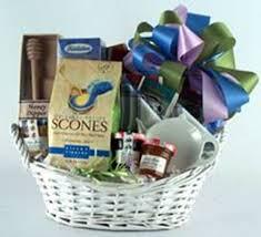 deluxe tea and scones gift basket