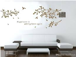 white wall stickers black white coffee birds on the tree branch wall decal art sticker living