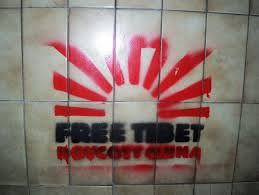 Stenciling Spray Paint File Free Tibet Boycott China Spray Paint Stencil On A Wall In
